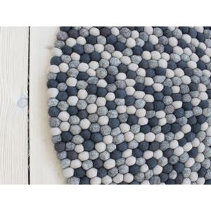 Tmavosivý guľôčkový vlnený koberec Wooldot Ball rugs, ⌀ 120 cm