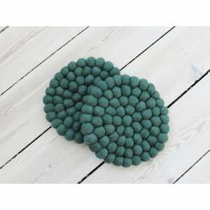 Tmavozelená guľôčková podložka z vlny Wooldot Ball Coaster, ⌀ 20 cm
