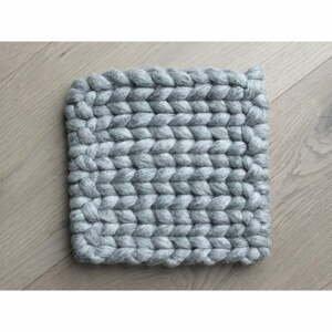 Oceľovosivá pletená podložka pod pohár z vlny Wooldot braider Coaster, 20 x 20 cm