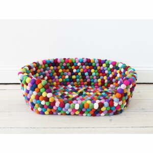 Guľôčkový vlnený pelech pre domáce zvieratá Wooldot Ball Pet Basket Multi, 40 x 30 cm