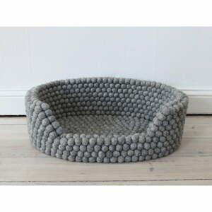 Oceľovosivý guľôčkový vlnený pelech pre domáce zvieratá Wooldot Ball Pet Basket, 40 x 30 cm