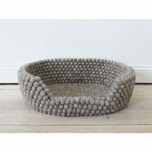 Pieskovohnedý guľôčkový vlnený pelech pre domáce zvieratá Wooldot Ball Pet Basket, 80 x 60 cm
