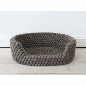 Orechovohnedý guľôčkový vlnený pelech pre domáce zvieratá Wooldot Ball Pet Basket, 40 x 30 cm
