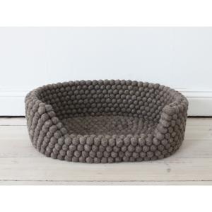 Orechovohnedý guľôčkový vlnený pelech pre domáce zvieratá Wooldot Ball Pet Basket, 60 x 40 cm