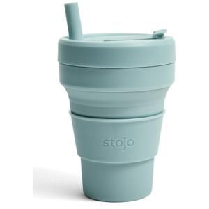 Modrý skladací hrnček Stojo Biggie Aquamarine, 470 ml