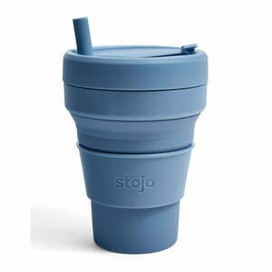 Modrý skladací hrnček Stojo Titan Steel, 710 ml