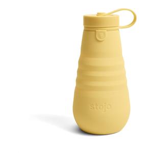 Žltá skladacia fľaša Stojo Bottle Mimosa, 590 ml