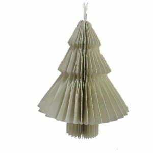 Svetlosivá papierová vianočná ozdoba v tvare stromu Only Natural, dĺžka 10 cm