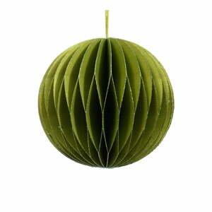 Zelená papierová vianočná ozdoba Only Natural, ø 7,5 cm