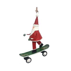 Vianočné dekorácie G-Bork Santa On Skateboard