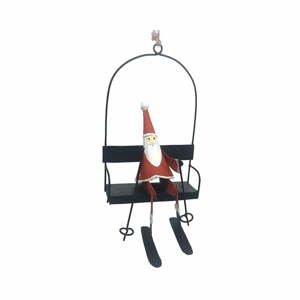 Vianočné dekorácie G-Bork Santa In Ski Lift