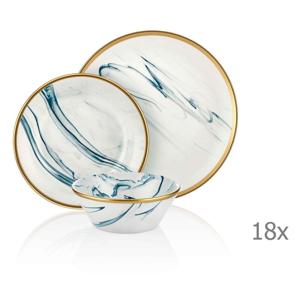 18-dielny set porcelánového riadu Mia Lucid Blues