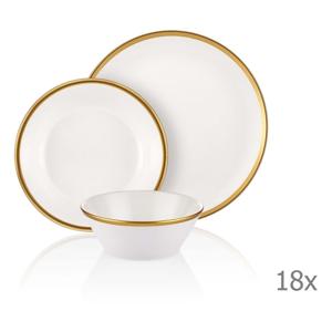 18-dielny set porcelánového riadu Mia Halos Gold