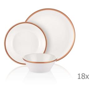 18-dielny set porcelánového riadu Mia Halos Bronze