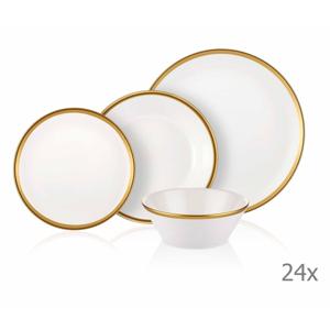 24-dielny set porcelánového riadu Mia Halos Gold