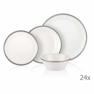 24-dielny set porcelánového riadu Mia Halos Silver