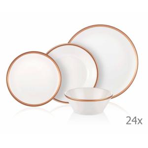 24-dielny set porcelánového riadu Mia Halos Bronze