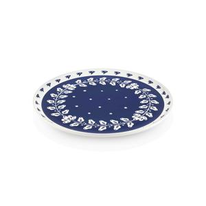 Modro-biely porcelánový servírovací tanier Mia Bloom, ⌀ 30 cm