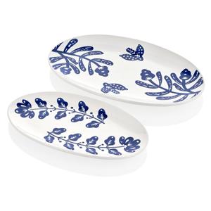Súprava 2 bielych porcelánových tanierov Mia Bloom
