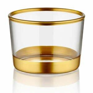Sada 3 pohárikov Mia Glam Gold, ⌀ 8 cm