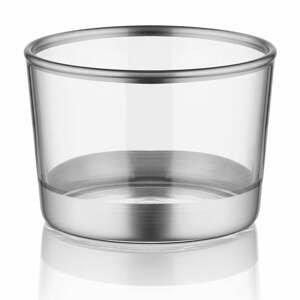 Sada 3 pohárikov Mia Glam Silver, ⌀ 8 cm