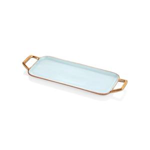 Azurovo-zlatý podnos Mia Sky, 56 x 20 cm