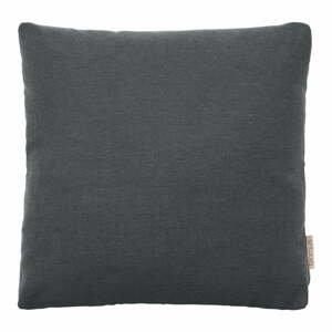 Tmavsivý bavlnený poťah na vankúš Blomus, 45 x 45 cm