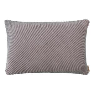 Ružovo-sivá bavlnená obliečka na vankúš Blomus, 60 x 40 cm