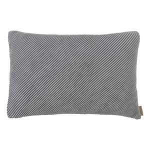 Sivý bavlnený poťah na vankúš Blomus, 60 x 40 cm
