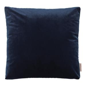 Tmavomodrá obliečka na vankúš so zamatovým efektom Blomus, 45 x 45 cm