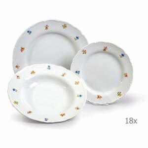 Sada 18 porcelánových tanierov Thun Ophelia