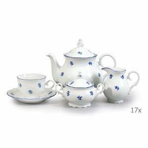 Porcelánová sada na čaj s modrou kvetinkou Thun Ophelia
