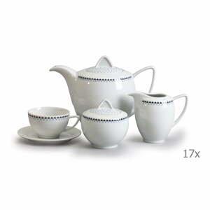 Porcelánová sada na čaj s trojuholníčkami Thun Lea