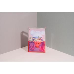 Ružový vodný fotorámik DOIY Unicorn, 11 x 16 cm