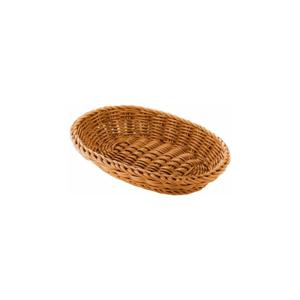 Béžový oválny stolový košík Saleen, 21×15 cm