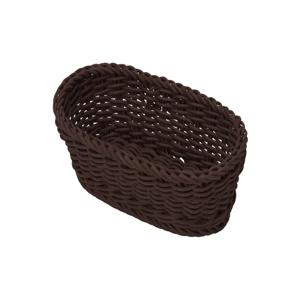 Hnedý oválny stolový košík Saleen, 14×7,5 cm