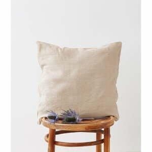 Prírodná ľanová obliečka na vankúš Linen Tales, 45 x 45 cm