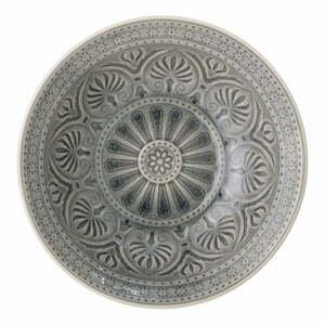 Sivá miska z kameniny Bloomingville Rani, ø 26,5 cm