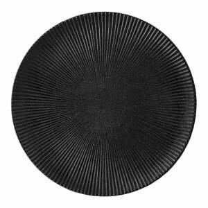 Čierny tanier z kameniny Bloomingville Neri, ø 29 cm