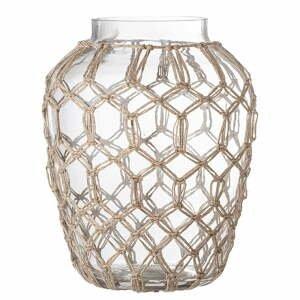 Sklenená váza s prírodnými detailmi Bloomingville Earthiness