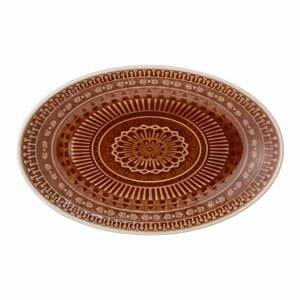 Hnedočervený servírovací tanier Bloomingville Rani, 22,5 x 14 cm