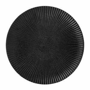 Čierny kameninový tanier Bloomingville Neri, ø 18 cm
