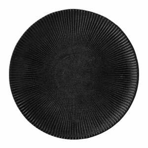 Čierny tanier z kameniny Bloomingville Neri, ø 23 cm