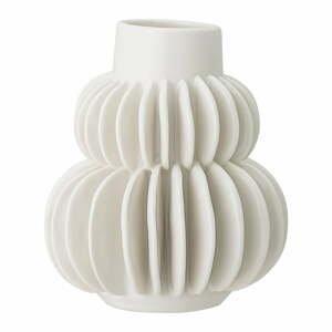 Biela váza z kameniny Bloomingville Blossom