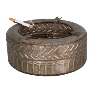 Popolník zo zinku Antic Line Pneu, ø 18,5 cm