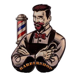Plechová ceduľa Antic Line Barber Shop, 41 x 50 cm