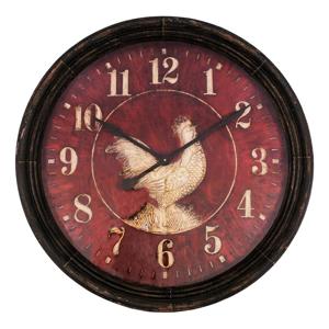 Nástenné hodiny Antic Line Coq, ø 90 cm