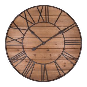 Nástenné hodiny Antic Line Bois, ø 90 cm