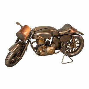 Železná dekorácia v tvare motorky Antic Line Moto, 29 x 11 cm