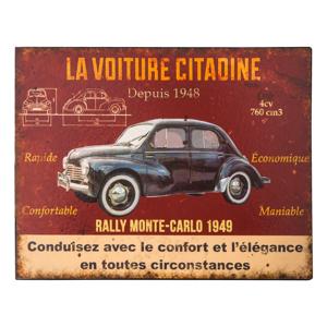 Plechová ceduľa Antic Line La Voiture, 28 x 22 cm